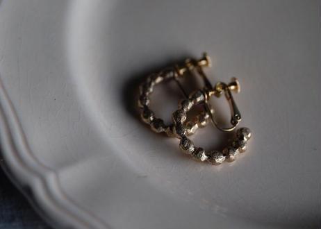 真鍮 マル粒 半円イヤリング