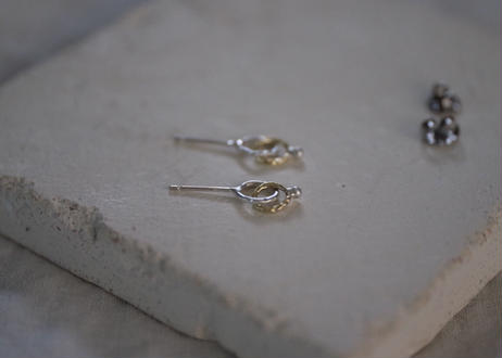 真鍮&シルバーのマル pierce