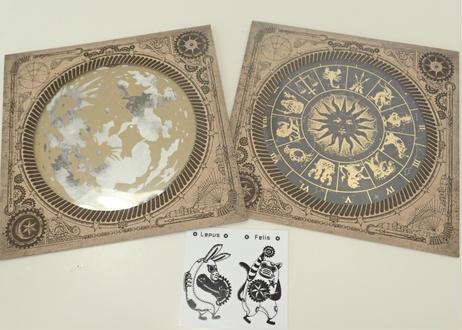 星巡りカード アルビレオ観測所より「十二星座版とお月様カードのセット」※シール付き