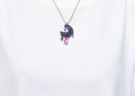 雫 レインボーオパール ルビー (ボロシリケイトガラス) SN-12105