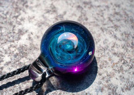 宇宙 三ヶ月ホワイトオパール アメジスト(ボロシリケイトガラス) ON-11222