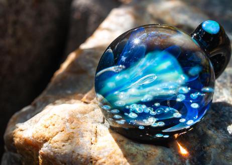 花 宇宙背景  (ボロシリケイトガラス)ON-11223