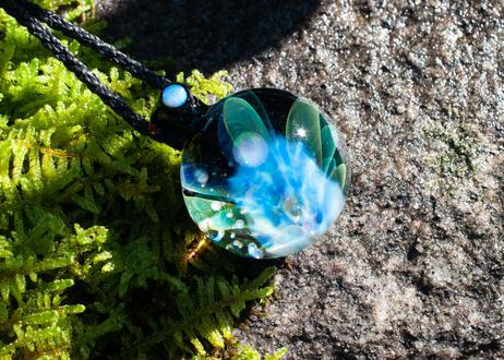 満月 レインボーオパール ホワイトオパール(ボロシリケイトガラス) ON-11219