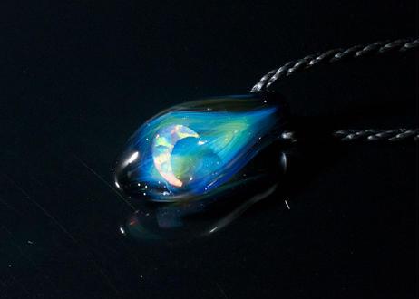 宇宙 三日月ホワイトオパール (ボロシリケイトガラス)ON-11215