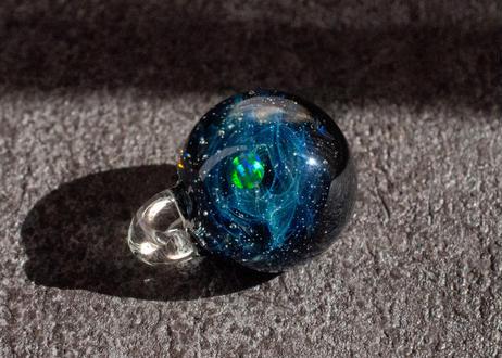 宇宙 ブラックオパール ラメ背景 (ボロシリケイトガラス) ON-11235