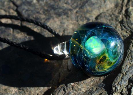 宇宙 レインボーオパール (ボロシリケイトガラス) ON-11209