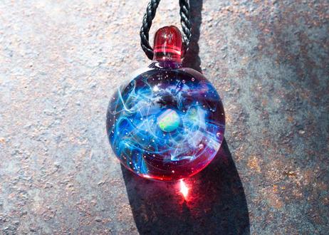 宇宙 レインボーオパール ルビー (ボロシリケイトガラス) ON-11228