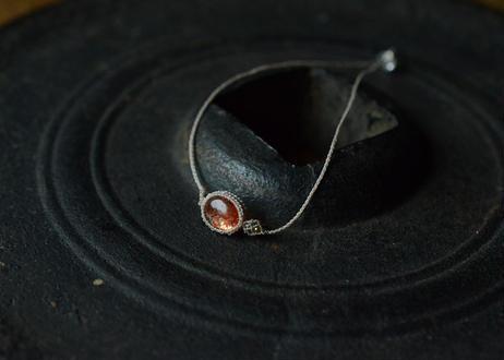 サンストーン/一粒の鉱物ブレスレット