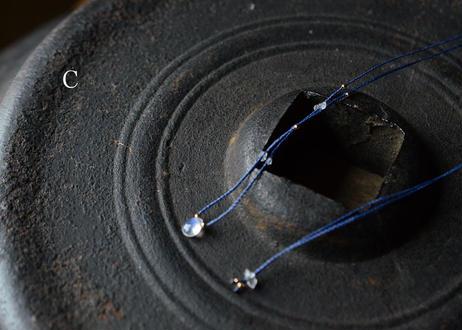 レインボームーンストーン/一粒の鉱物ネックレス134