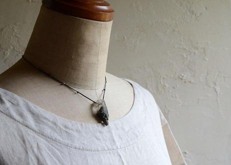 ガネーシュヒマール水晶/一粒の鉱物ネックレス118