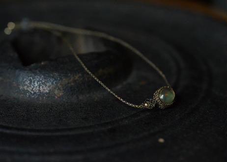 オパール/一粒の鉱物ブレスレット