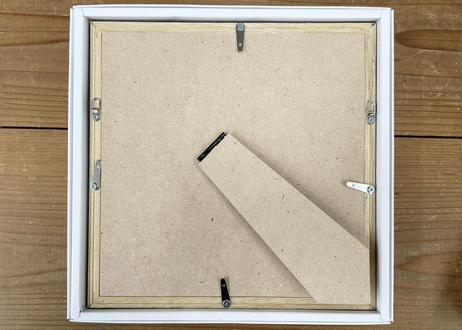 ドライフラワーのメッセージフレーム Yellow (22cm×22cm)