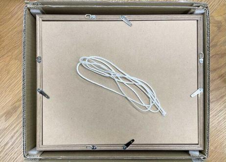 ドライフラワーのメッセージフレーム Blue (22cm×27cm)
