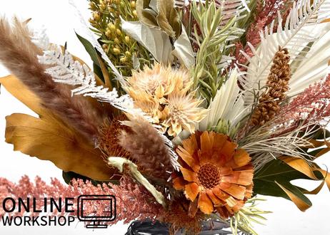 【オンライン】Workshop:秋色のドライフラワースワッグ【 2021年9月23日 (木)】