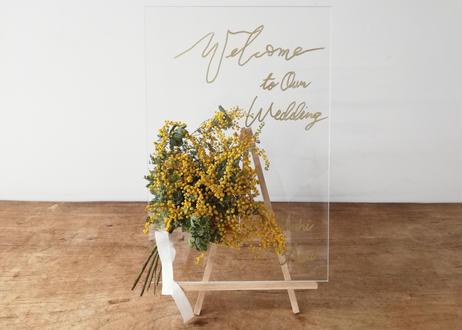 【Wedding】ウェルカムボード(アクリルテイスト)