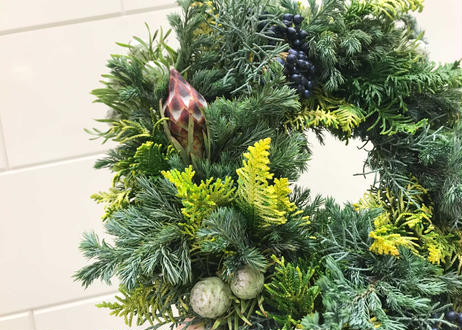 [受注生産] Christmas wreath(M)