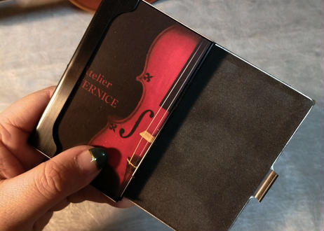 STRINGS CARD CASE(縦木目)製作可能お問い合わせください