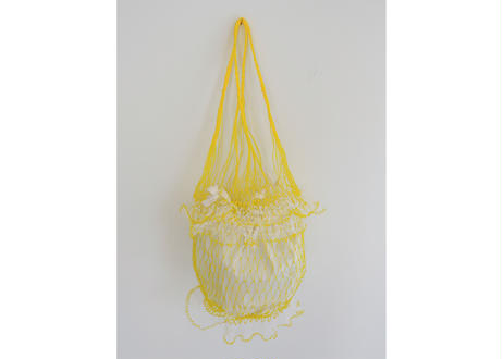タイのカラフル網バッグ(イエロー x イエロー)