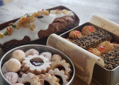 バレンタイン用米粉のクッキー缶