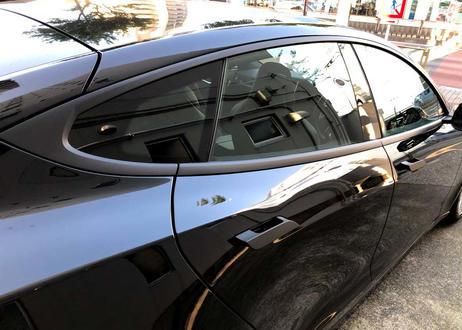 クロムデリートシート1台分(modelS)窓枠+ミラーステー