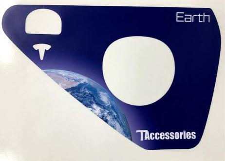 充電ポートステッカーMars,Earth(model3)