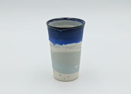 B6 色彩結晶釉 フリーカップ 青