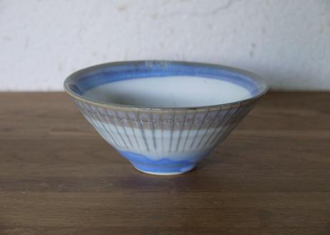 A108色彩結晶釉茶碗 青×灰
