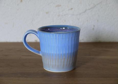 A105色彩結晶釉マグカップsmall青