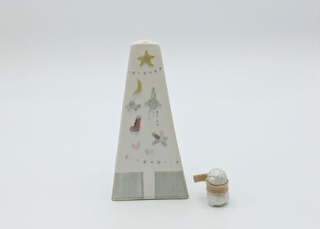 B4 クリスマス花器 ゆきだるま付