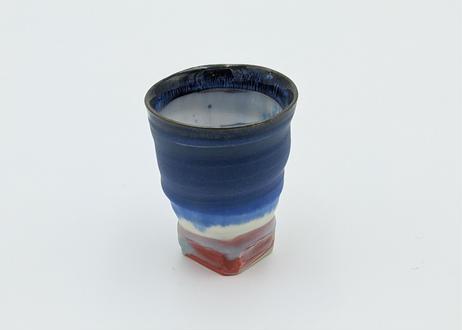 A18 色彩結晶釉ぐいのみ 藍