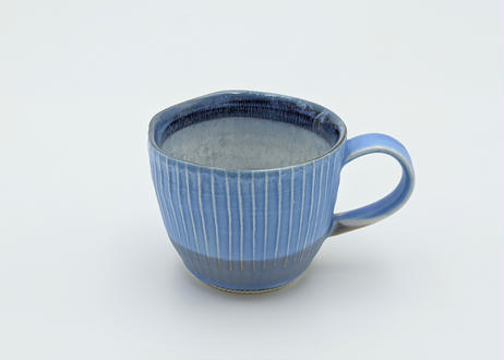 B97 色彩結晶釉マグカップ  ブルー×グレー