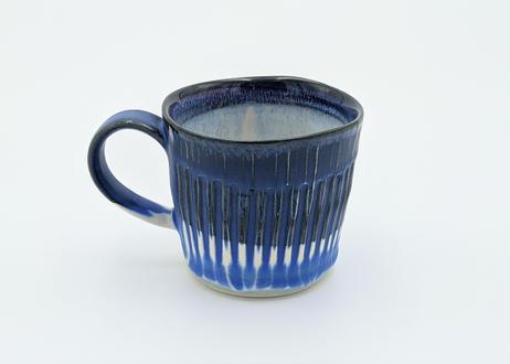 B97 色彩結晶釉マグカップ 藍