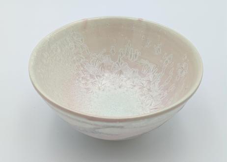 B114 雪結晶釉小丼 ピンク×紫