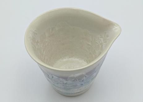 B70 雪結晶釉片口