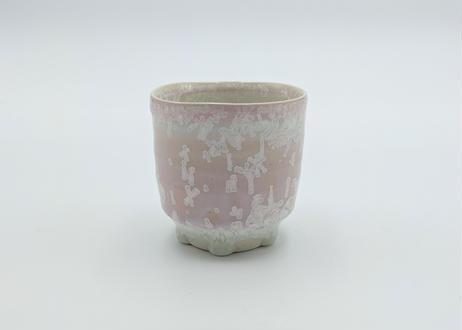 C8 雪結晶釉ゆのみ ピンク