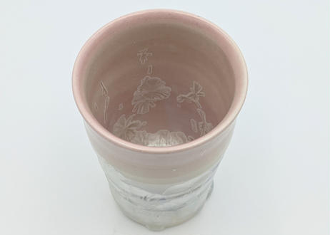 B83 雪結晶釉フリーカップ ピンク