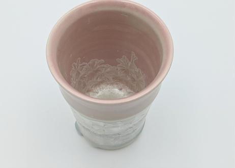 B82 雪結晶釉フリーカップ ピンク