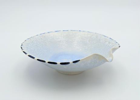 B120 雪結晶釉片口丸鉢