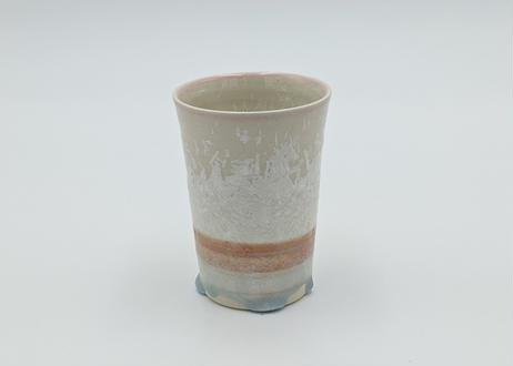 B17 雪結晶釉 フリーカップ ピンク
