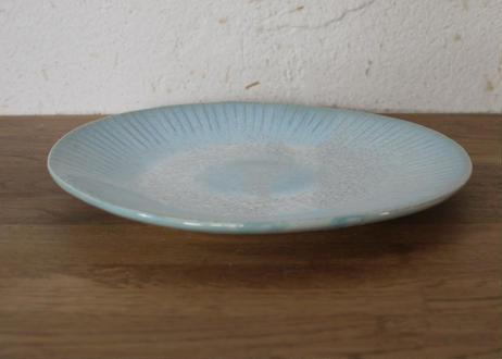 A76色彩結晶釉丸皿 ブルー