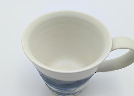 雪釉マグカップ 藍色