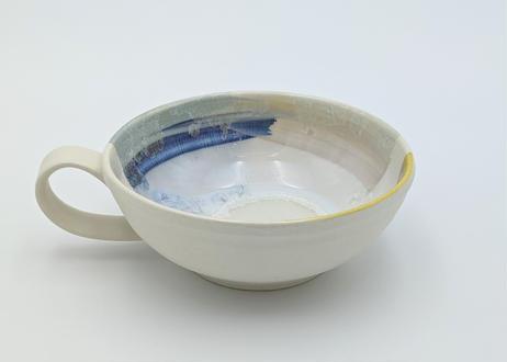 色彩結晶釉スープカップ 黄