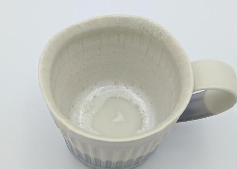 B98 色彩結晶釉マグカップ 白×紫