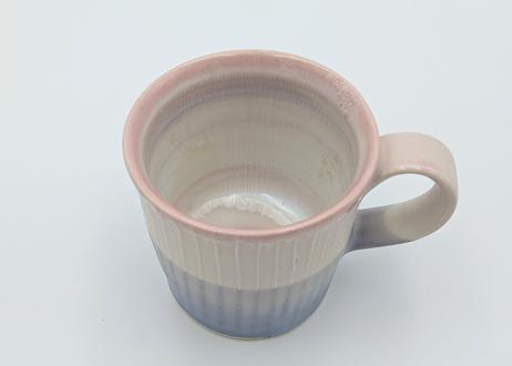 色彩結晶釉マグカップ ピンク×紫