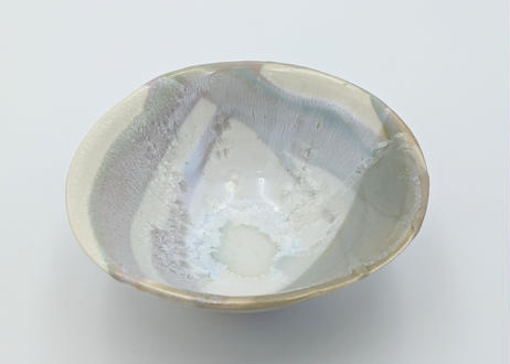 B117 色彩結晶釉茶碗 紫×グレー