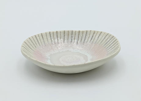 B61 色彩結晶釉こだち楕円小鉢