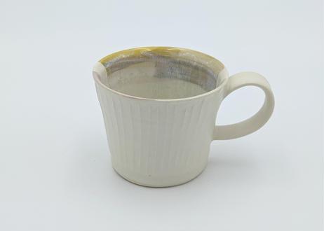 色彩結晶釉マグカップ 黄