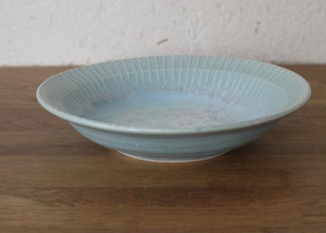 A74色彩結晶釉口広鉢 ブルー 大