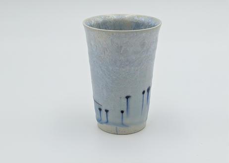 B16 雪結晶釉 フリーカップ 青