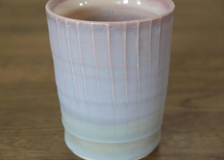 A46 色彩結晶釉ゆのみ 紫
